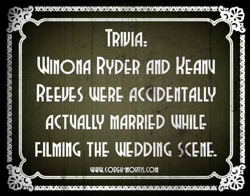 Did You Know 2: Bram Stoker's Dracula (1992)