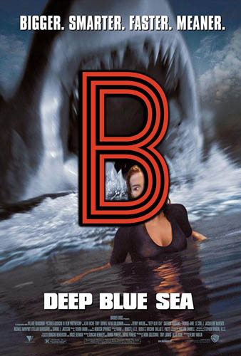 Deep Blue Sea (1999) Review Poster