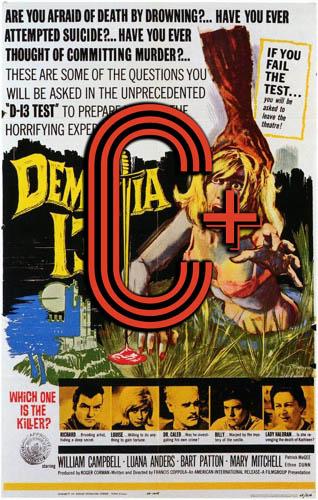 Dementia 13 (1963) Review Poster
