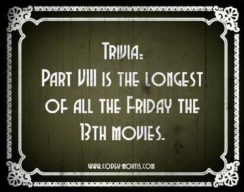 Did You Know 2: Friday the 13th Part VIII: Jason Takes Manhattan (1989)