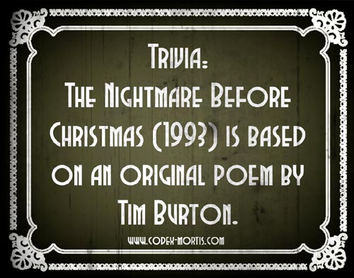 Did You Know 1: The Nightmare Before Christmas (1993)