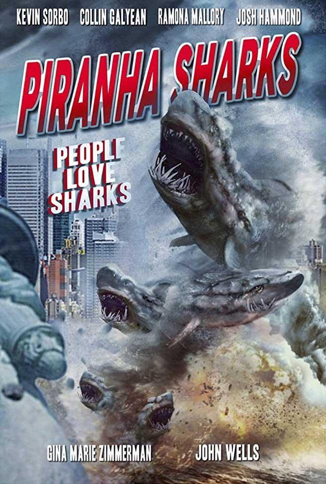 Piranha Sharks (2014) Poster